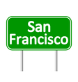 San Francisco green road sign vector image