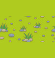 seamless pattern with green grass and stones vector image vector image