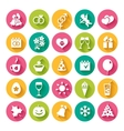 Set of 25 flat icons vector image