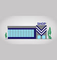 shop facade flat building vector image