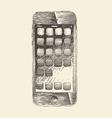 Smart Phone smartphone mobile tablet engraved vector image