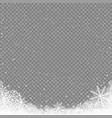 snow corner background transparent vector image vector image