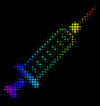 spectral colored dot syringe icon vector image
