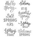 spring hand drawn lettering design vector image