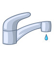 water faucet icon cartoon style vector image