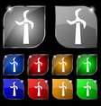 Windmill icon sign Set of ten colorful buttons vector image