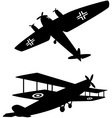 World War One planes vector image vector image
