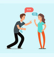 young angry man and woman couple have quarrel vector image
