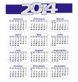Calendar -2014 BLUE vector image