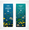 Diving vertical banners vector image