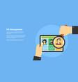 human resource management concept vector image