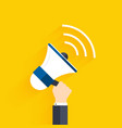 People holding a megaphone Business flat vector image