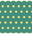 Seamless polka dot pattern background vector image
