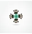 veterinarian icon vector image