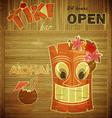 Vintage design hawaii menu vector image