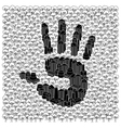 Save the forests concept Hand print vector image