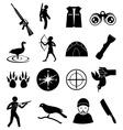 Hunting icons set vector image