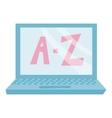A Z computer icon cartoon style vector image vector image