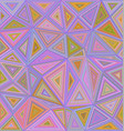 Abstract triangle mosaic tile background design vector image