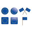badges with European Union flag vector image vector image