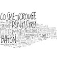 baton rouge dentistry text word cloud concept vector image vector image