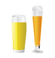 beer glass vector image