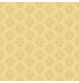 beige seamless floral pattern vector image vector image