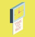 black friday sale analog clock design vector image