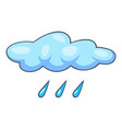 blue cloud rain icon cartoon style vector image