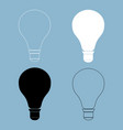 bulb the black and white color icon vector image vector image