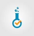 check laboratory verified modern logo icon vector image vector image