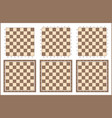 chess table chessboard set vector image vector image