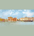cityscape of venice pixel graphics vector image