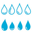collection icons water drops isolated on vector image vector image