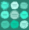 Collection of green hand-drawn scribble circles vector image vector image