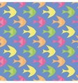 Colorful fishes pattern vector image vector image