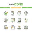 copywriting - modern line design style icons set vector image