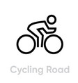 cycling road sport icons vector image vector image