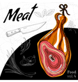 Delicious Ham meaty composition vector image