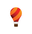 elegant air balloon template vector image vector image