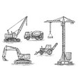 engineering vehicle heavy equipment for the vector image vector image