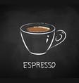 espresso coffee chalk vector image
