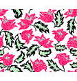 floral pattern with colorful flowers vector image vector image