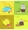 for tea party vector image