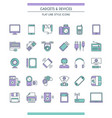 gadget and devices icon set vector image
