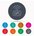 GPS navigation icon Map positioning sign vector image vector image