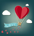 hot air balloon in a heart shape vector image