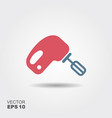 icon of electric mixer whisking utensil cooking vector image