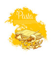 italian pasta cuisine poster for restaurant vector image vector image