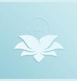 light bulb inside lotus flower petals vector image vector image